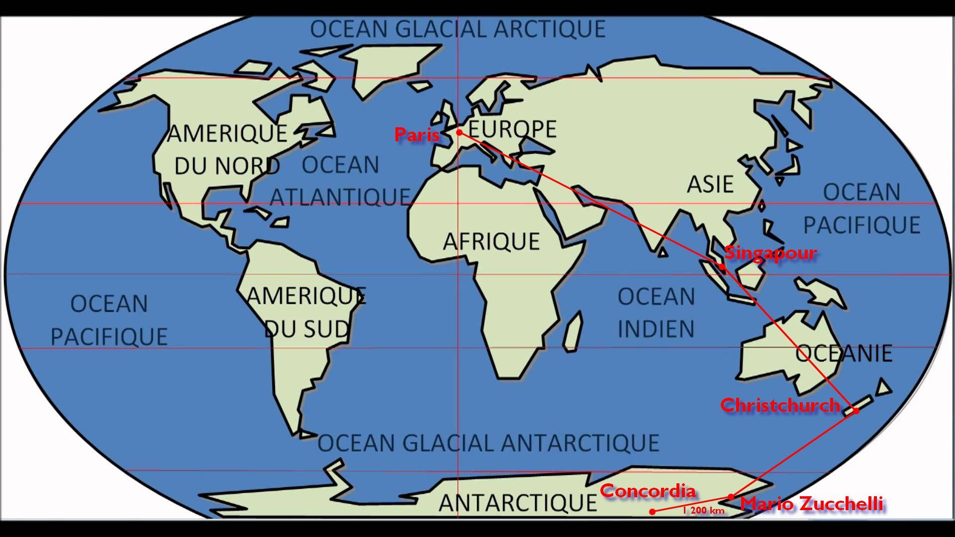 Map trajet aller